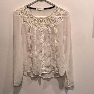Lacey chiffon shirt